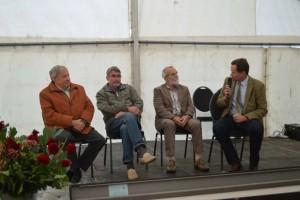 Talkrunde mit Herrn Bülow,  Dr. Hanebeck, W. Kniep, Herr Schmidt Gudow